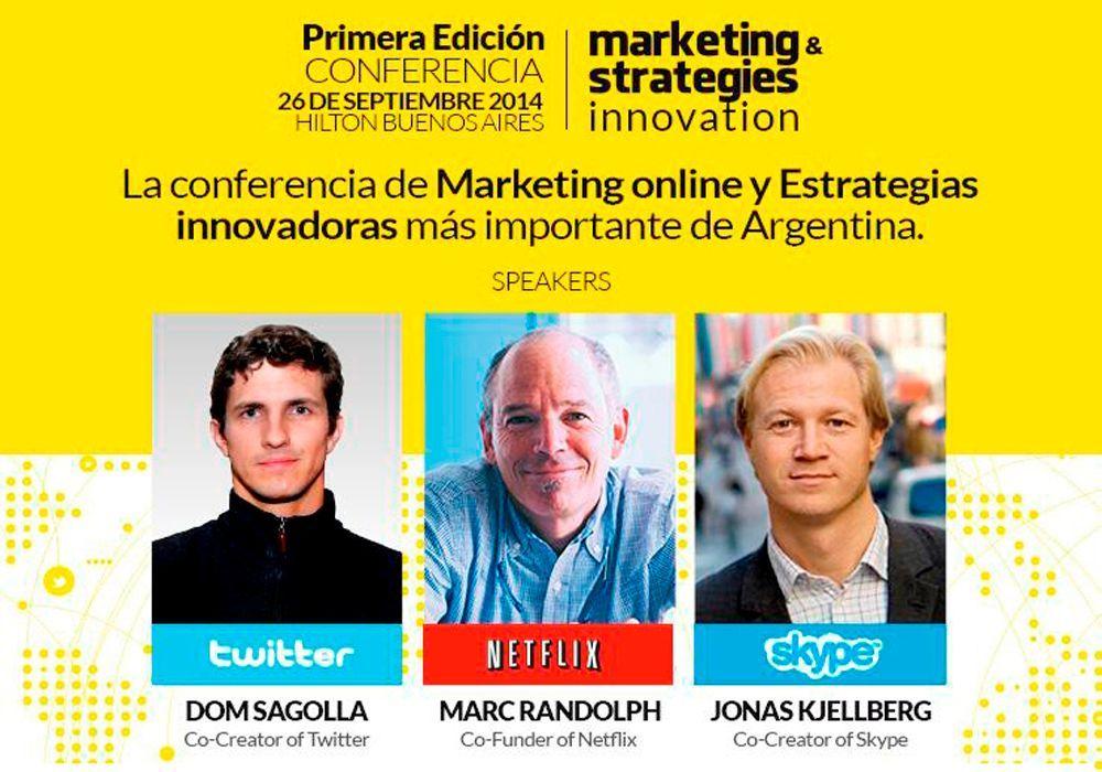 Conferencia: los referentes de Twitter, Netflix y Skype en Buenos Aires