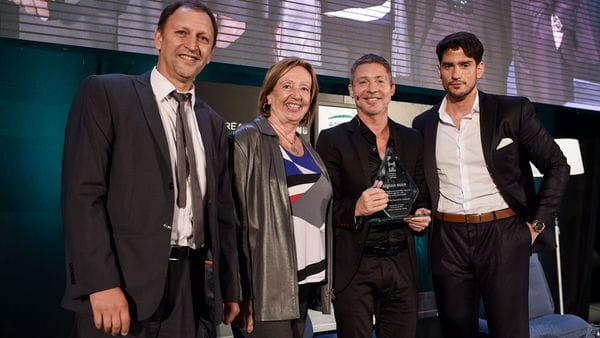 Adrián Suar fue distinguido en Uruguay por su aporte a la cultura latinoamericana